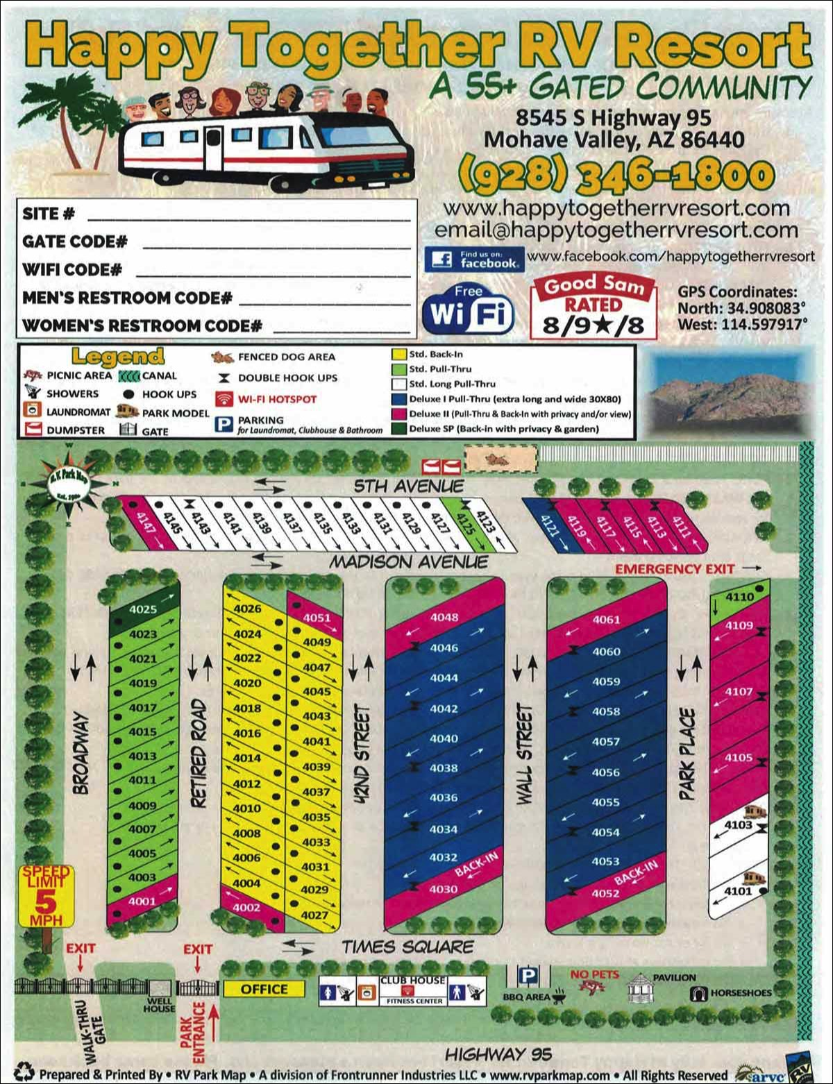 Map Of Arizona Rv Parks.Happy Together Rv Resort View Our Rv Park Near Needles Ca